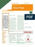 October 4 H Newsletter2013 1
