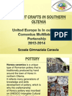 Ancient Crafts in Southern Oltenia
