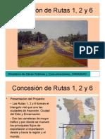 Proyecto Concesión Rutas 1, 2, y 6