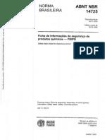 NBR 14725(FISPQ)