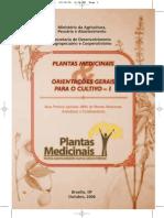 Cultivo de Plantas Medicinais - Ministerio Da Agricultura