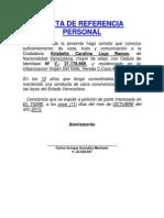 Carta de Referencia Personal Carlos