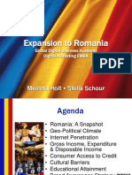 Proposal for Expansion of Digital EMBA to Romania