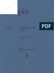 Chopin - Fantasy in f Minor, Op. 49 (Urtext)