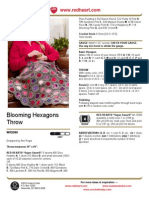 Flowering Hexagons Throw