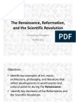 The Renaissance Reformation and the Scientific Revolution