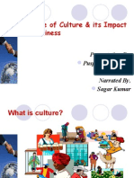 Nature of Culture & Its Impact on Business.