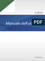 GT I8750 Manuale
