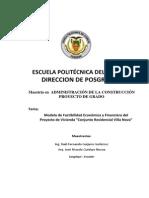 Proyecto Financiero Vivienda