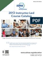 2013 Winter ALI Course Catalog