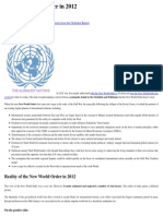 NWO - The New World Order in 2012