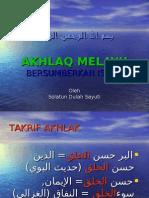 Akhlaq Melayu Bersumberkan Islam