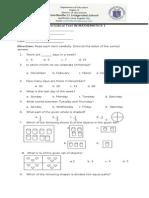 4th Periodical Test in Mathematics 1