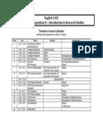 course calendar english 1302