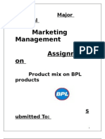 Product Mix of BPL Products