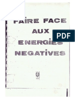 Faire face aux énergies négatives