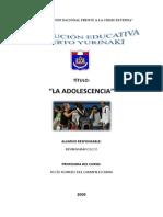 Monografía La adolescencia