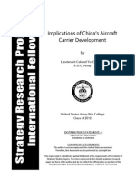 Implications of China's Aircraft Carrier Development (ADA561596)