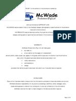 Mcwade Tech Info