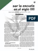 Pensar La Escuela en El Siglo Xxi - Mario Montoya