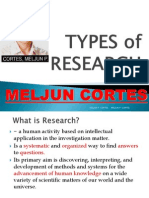 MELJUN CORTES Types of Research
