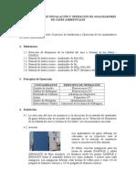 Procedimiento de Instalacion y Operacion de Analizadores de Gases Ambientales