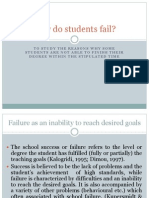 Why Do Students Fail