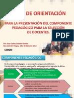 PRESENTACIÓN COMPONENTE PEDAGÓGICO