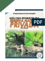 Guia Para La Inscripcion de Reservas Naturales Privadas