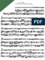 Sonata No. 3 in B Minor for Flute and Continuo (Piano)