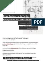 la sociología en twitter