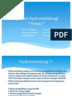 Aplikasi Hydrometalurgi