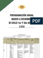 Prog. Anual - III Ciclo