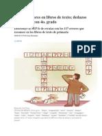 Los 117 Errores en Libros de Texto