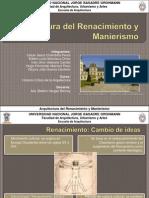 Arquitectura Del Renacimiento y Manierismo