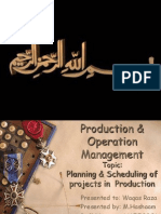 Planning & Scheduling of Projects