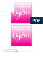 Valentines Dinner Champagne Oysters Sign