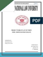Nuisance -Law of Tort(Raj)