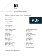 A Journal of Critical Writing