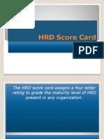 HRD Score Card