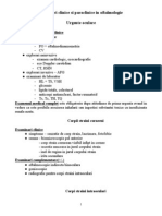 Examinari Clinice Si Paraclinice  in Oftalmologie