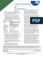 Bill_Summary - The National Food Security Bill 2011 Final.pdf