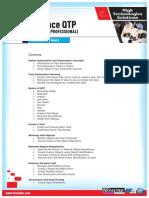 HTS Advanced QTP Course Contents - June 2012