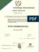 Diploma Pos Graduacao Phd Fito a
