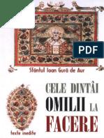Sf Ioan Gura de Aur_Cele Dintai Omilii La Facere