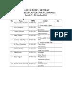Daftar Judul Referat Radiologi