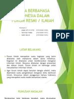 Etika Berbahasa Indonesia Dalam Forum Resmi