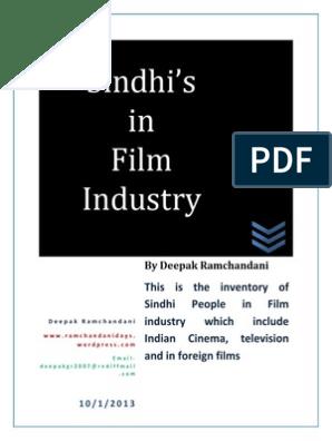 Sindhis in Film Industry | Cinema Of India | Cinema