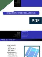 Si Nano Wire Based Solar Cells