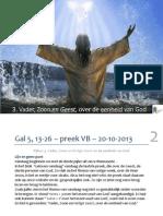 Gal 5, 13-26 – preek NGK Voorthuizen-Barneveld – 20-10-2013 Pijler 3. Vader, Zoon en Heilige Geest en de eenheid van God - web